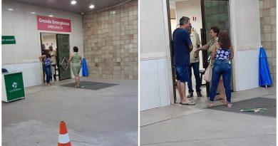 Domingos Dutra e Núbia chegam ao Hospital São Domingos